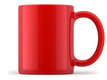 Tasse rouge d'isolement illustration stock