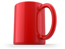 Tasse rouge d'isolement illustration libre de droits