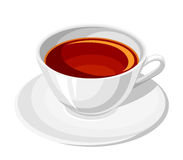 Tasse Tee Auch im corel abgehobenen Betrag Stockfoto