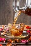 Tasse Tee auf Untertasse Lizenzfreie Stockfotos