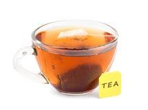 Tasse Tee mit Teebeutel lizenzfreie stockbilder