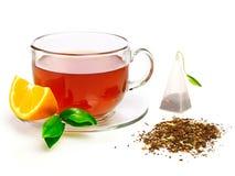 Tasse Tee mit Zitrone Stockfoto