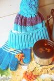 Tasse Tee mit Zitronenabschluß oben Lizenzfreies Stockbild