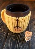 Tasse Tee mit Zucker Lizenzfreie Stockfotos