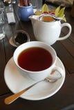 Tasse Tee am Neuseeland-Kaffee Lizenzfreies Stockfoto