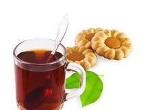 Tasse Tee und Kuchen Stockfotos
