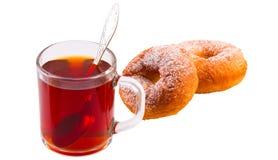 Tasse Tee und Kuchen Stockbilder