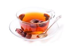 Tasse Tee von einem dogrose Stockfotos