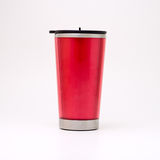 Tasse thermique rouge Photos stock