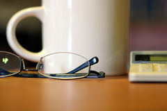 Tasse toujours de café en verre de durée Photos libres de droits
