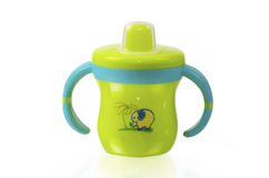 Tasse verte de bébé Photographie stock libre de droits