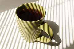 Tasse verte de thé Images libres de droits