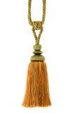 tassel шнура изолированный занавесом Стоковые Фотографии RF