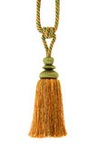 Tassel , curtain cord, isolated. Tassel for curtain, isolated on white background Royalty Free Stock Photos