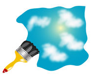 Tassel drawing blue sky Stock Images