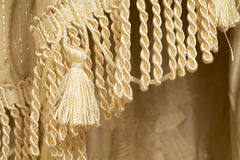 Tassel and fringe curtains closeup Stock Photography