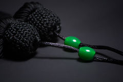 Tassel of Tai Chi sword on the black background Stock Photography