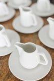 Tasses blanches de thé Image libre de droits