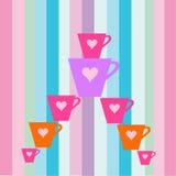 Tasses colorées Photo libre de droits