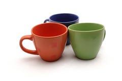Tasses colorées images libres de droits