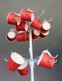 Tasses colorées modernes Image stock