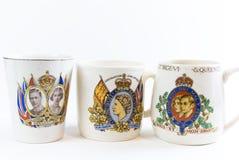 Tasses commémoratives de couronnement Photo stock