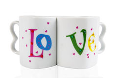 Tasses d'amour Photo libre de droits