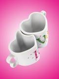 Tasses d'amour Images libres de droits
