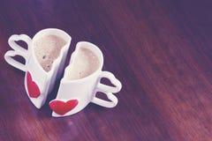 Tasses d'amour de café Image libre de droits