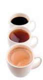 Tasses de boissons chaudes V Images libres de droits