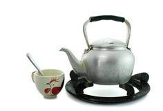 Tasses de café antiques de bouilloire Image stock