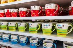 Tasses de café colorées. Images libres de droits