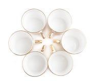 Tasses de café en cercle Photos libres de droits