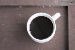 Tasses de café sur la table Photographie stock libre de droits