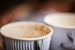 Tasses de café utilisées Images libres de droits