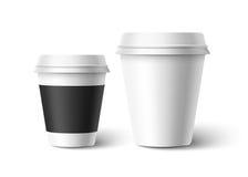 Tasses de café Vecteur Images libres de droits