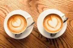 Tasses de cappuccino Images libres de droits