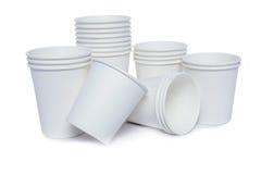 Tasses de carton pour les boissons chaudes et de froid Photo libre de droits