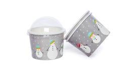 Tasses de carton pour les boissons chaudes et de froid Images stock