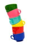 Tasses de couleur Images stock
