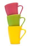 Tasses de couleur Images libres de droits