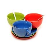 Tasses de couleur Photographie stock libre de droits