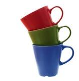Tasses de couleur. Photo stock