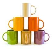 Tasses de couleur Photo libre de droits