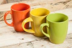 Tasses de couleur Photographie stock