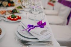 Tasses de décorations de mariage Photo stock