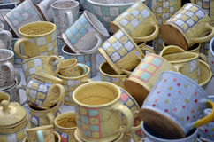 Tasses de plaid Photo libre de droits