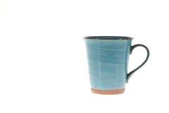 Tasses de tasse sur le fond blanc Image stock