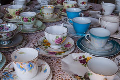 Tasses de thé Photographie stock libre de droits