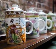Tasses de thé chinoises photographie stock libre de droits